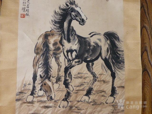 徐悲鸿双骏图图3