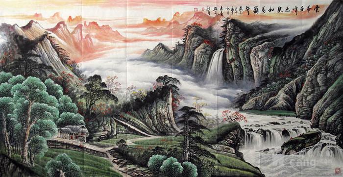 李志远・大八尺山水图3