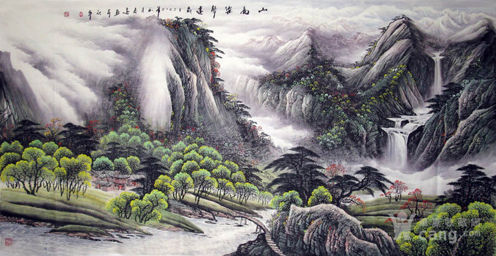 李志远・大八尺山水图2