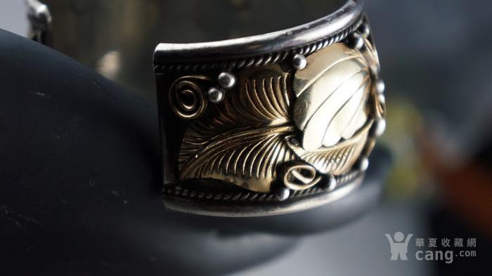 印第安手工老银镯子图6
