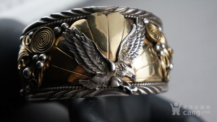 印第安手工老银镯子图7