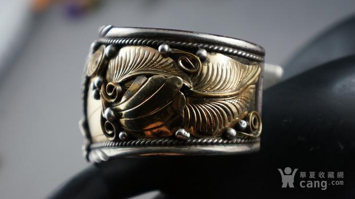 印第安手工老银镯子图8