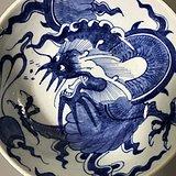 瓷器 青花龙纹碗