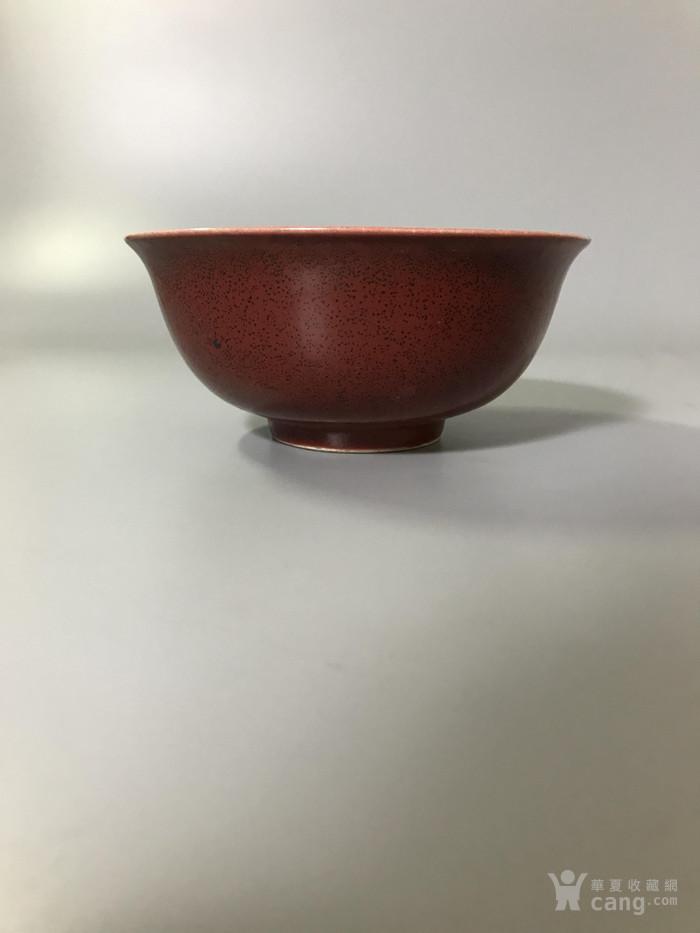 瓷器康熙祭红碗图2