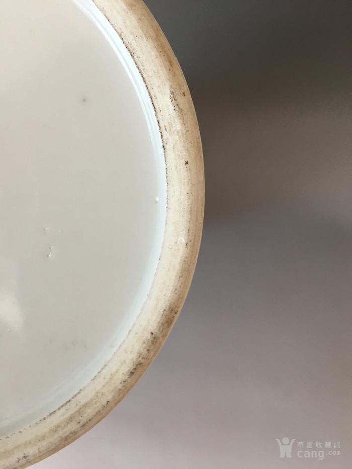民国粉彩花鸟帽筒,高28.5cm,口径12.5cm,全品!图8