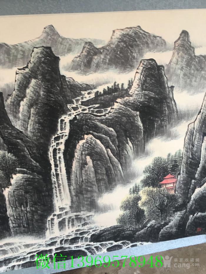 华夏古玩城 字画 当代 > 近代名家山水画一幅  年代:其它 款式:横幅