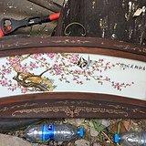 清晚期是粉彩花鸟瓷板