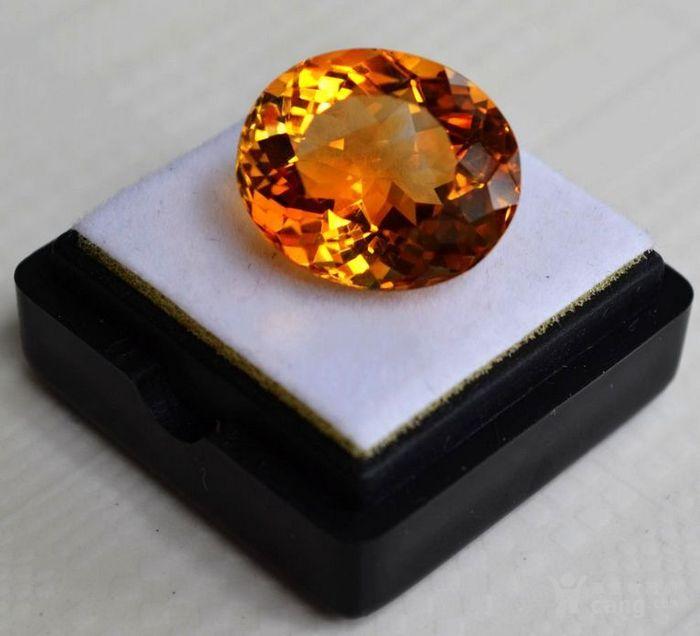 黄水晶 11.36克拉纯天然无加热巴西黄水晶 旺财石图1