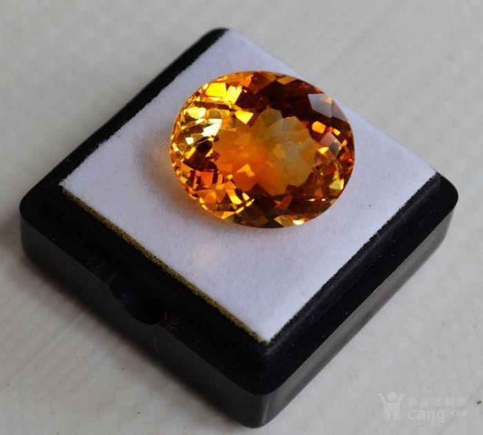 黄水晶 11.36克拉纯天然无加热巴西黄水晶 旺财石图2