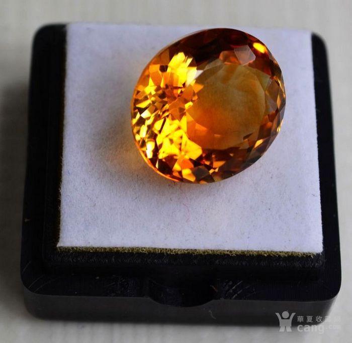 黄水晶 11.36克拉纯天然无加热巴西黄水晶 旺财石图3