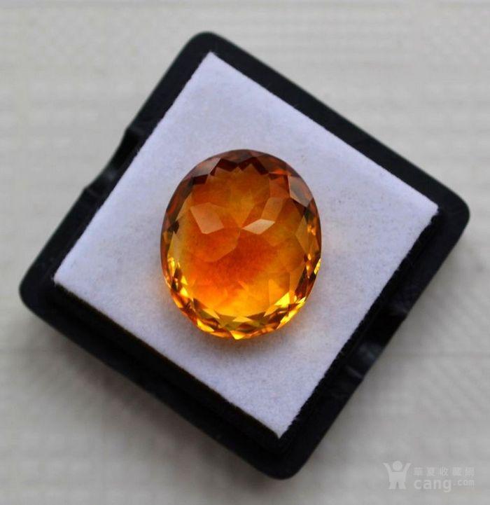 黄水晶 11.36克拉纯天然无加热巴西黄水晶 旺财石图5