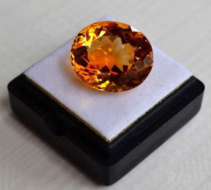 黄水晶 11.36克拉纯天然无加热巴西黄水晶 旺财石图4