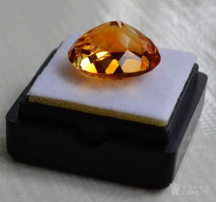 黄水晶 11.36克拉纯天然无加热巴西黄水晶 旺财石图6