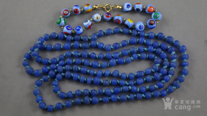 宝蓝色琉璃项链 意大利琉璃手链图1