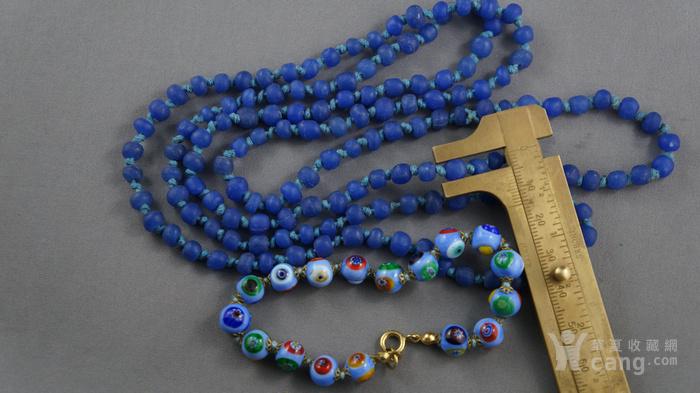 宝蓝色琉璃项链 意大利琉璃手链图2