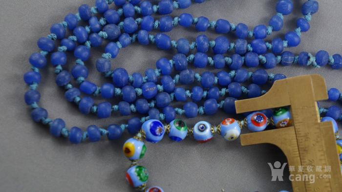 宝蓝色琉璃项链 意大利琉璃手链图3
