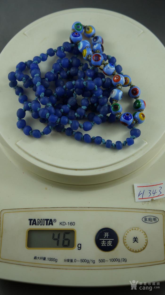 宝蓝色琉璃项链 意大利琉璃手链图4