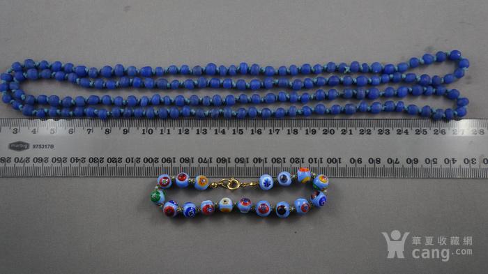 宝蓝色琉璃项链 意大利琉璃手链图5