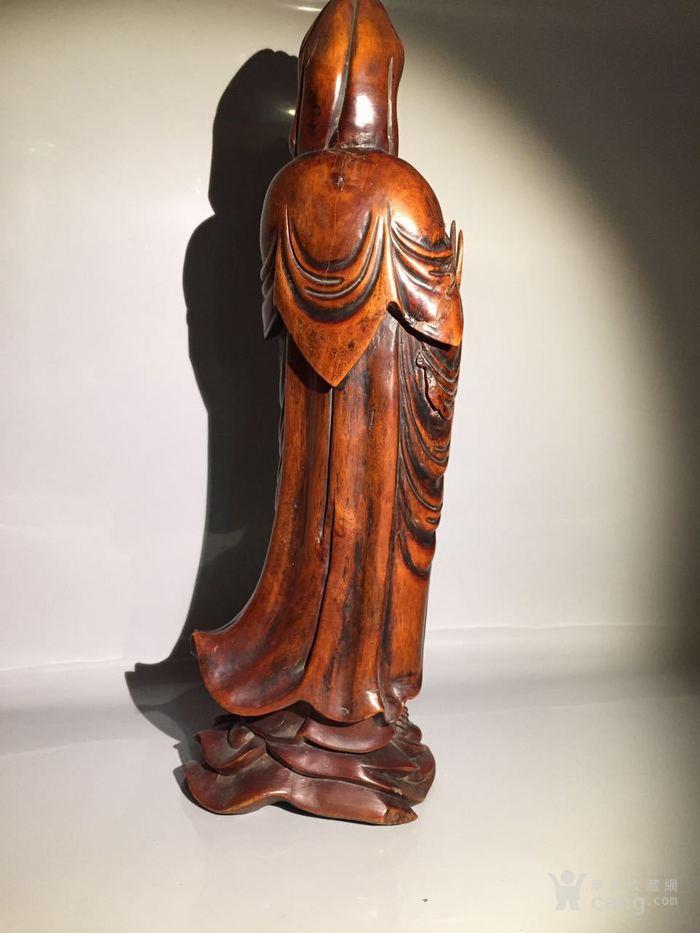 清 乾隆 黄杨木雕观音菩萨图5
