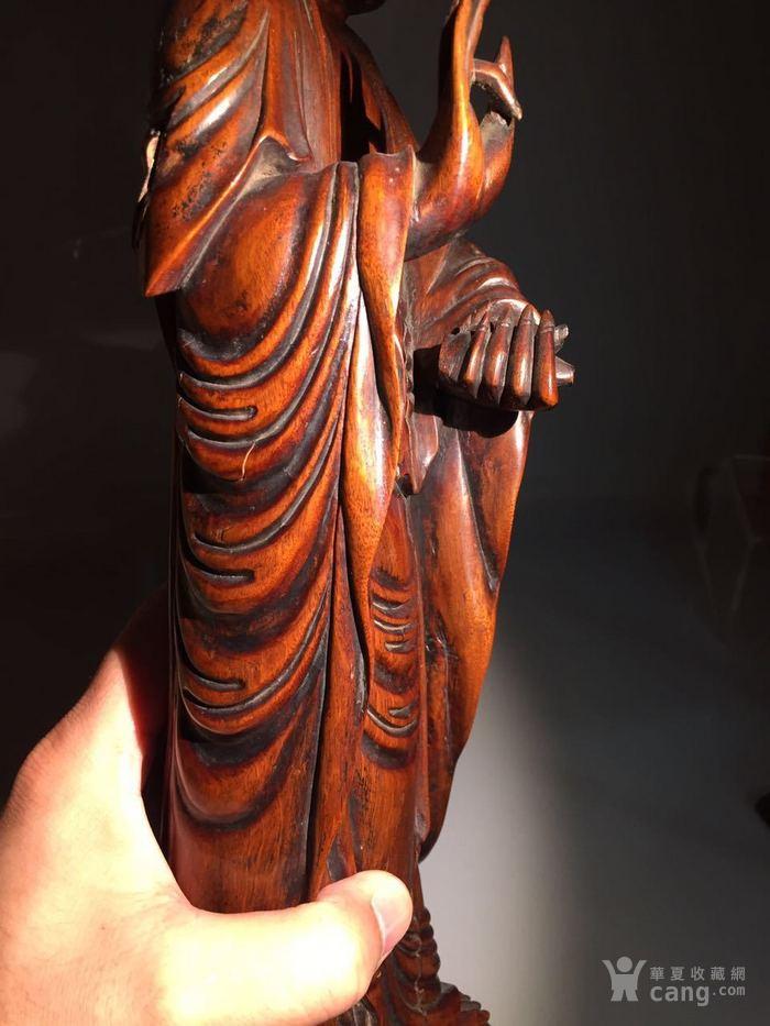 清 乾隆 黄杨木雕观音菩萨图8
