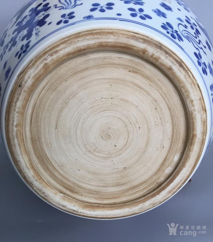清三代鱼藻纹文房书画缸,高34.2cm,口径38.8cm图9