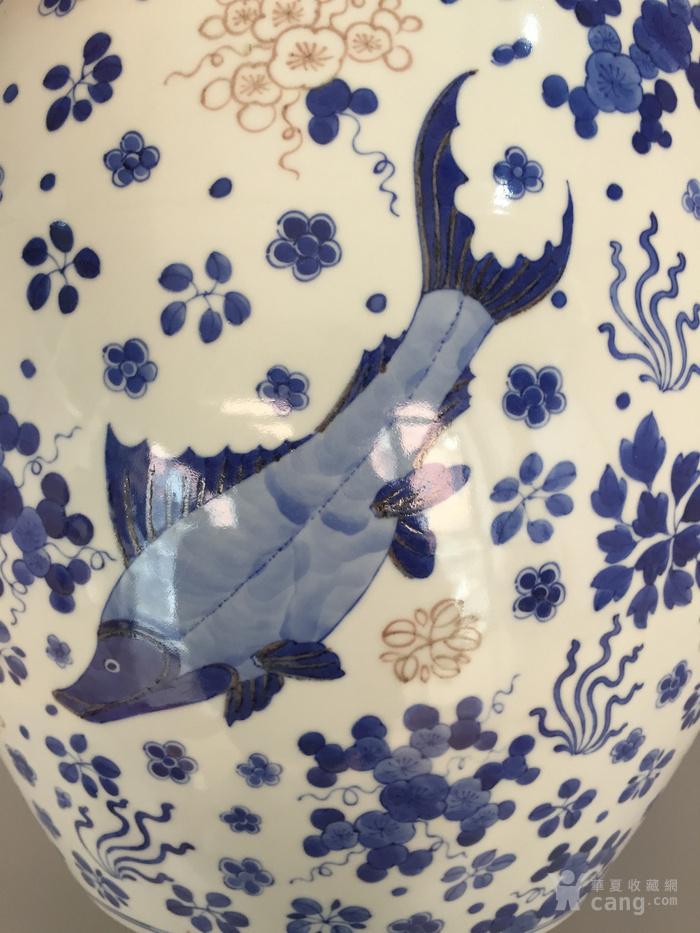 清三代鱼藻纹文房书画缸,高34.2cm,口径38.8cm图6