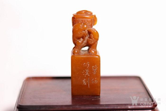 清代   寿山石狮子玉簠印章图1