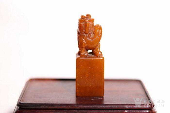 清代   寿山石狮子玉簠印章图3