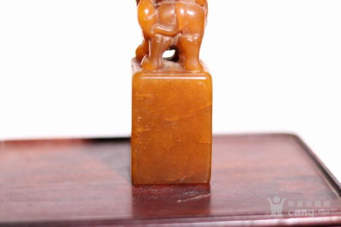清代   寿山石狮子玉簠印章图5