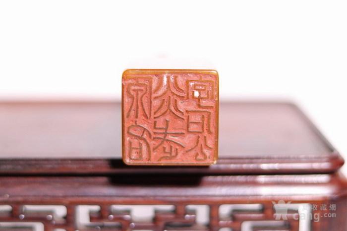 清代   寿山石狮子玉簠印章图6