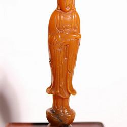 清代    寿山石巧雕观音摆件印章