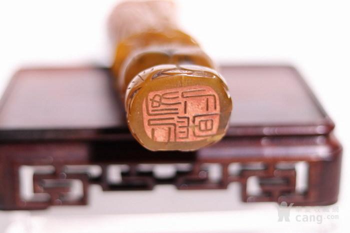清代    寿山石巧雕观音摆件印章图9
