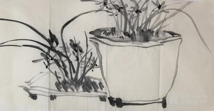 保真中国美术家协会会员山东画院画师花鸟作品水墨兰花32图2