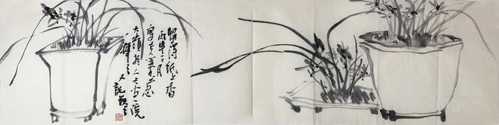 保真中国美术家协会会员山东画院画师花鸟作品水墨兰花32图3
