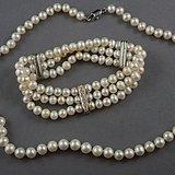 淡水珍珠项链 三排手链