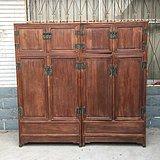 明清家具清代黄花梨素面书柜大衣柜一对古玩木艺书房老衣柜老家具