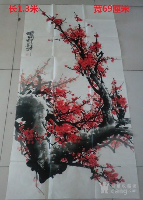 带照片画心 王成喜梅花图2