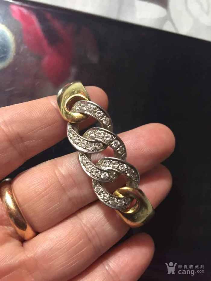28,3克750金镶嵌钻石手镯12000不议价图1