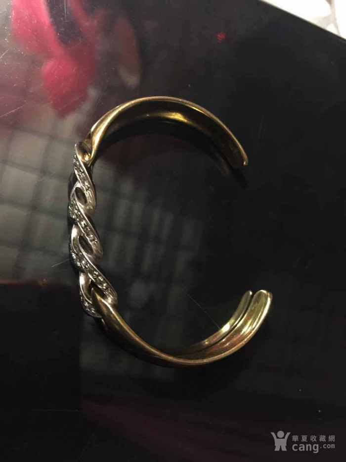 28,3克750金镶嵌钻石手镯12000不议价图2