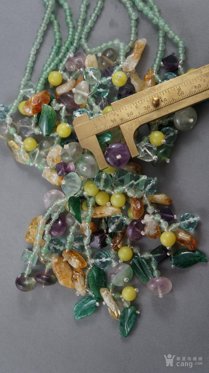 欧洲天然水晶玉髓豪华项链图4