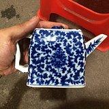 瓷器 清中期青花花卉茶壶