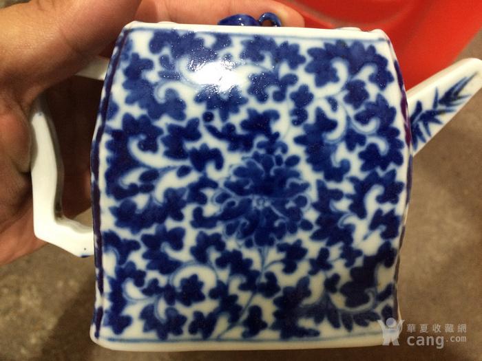 瓷器 清中期青花花卉茶壶图2