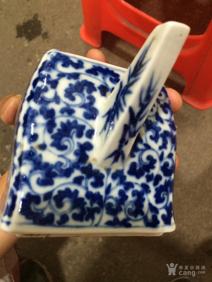 瓷器 清中期青花花卉茶壶图4