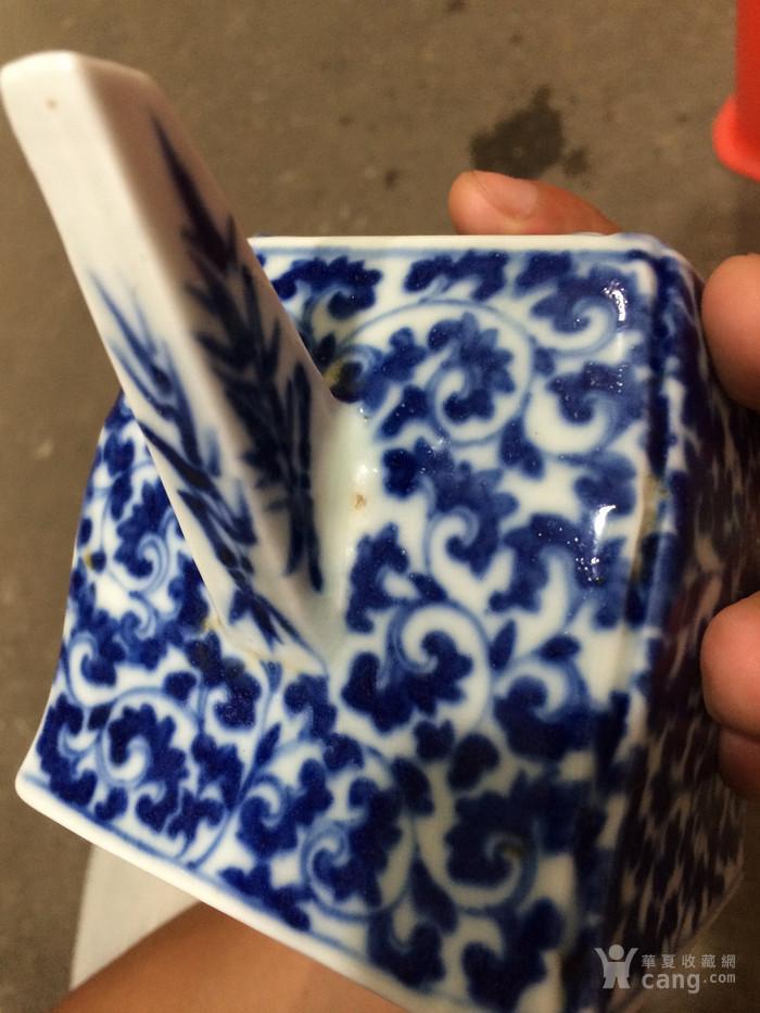 瓷器 清中期青花花卉茶壶图6