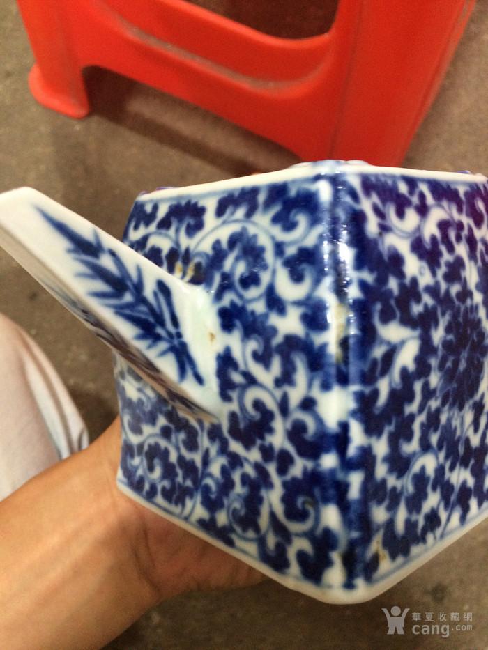 瓷器 清中期青花花卉茶壶图12