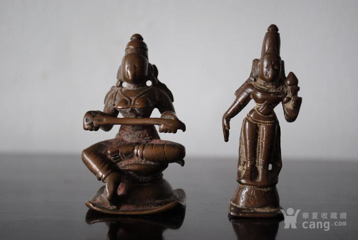 四尊17 18世纪印度小铜雕像图2