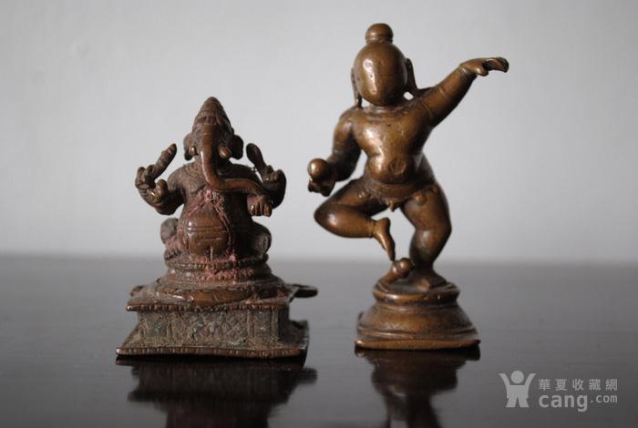 四尊17 18世纪印度小铜雕像图3