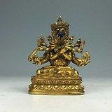 清早期 铜鎏金密集金刚像