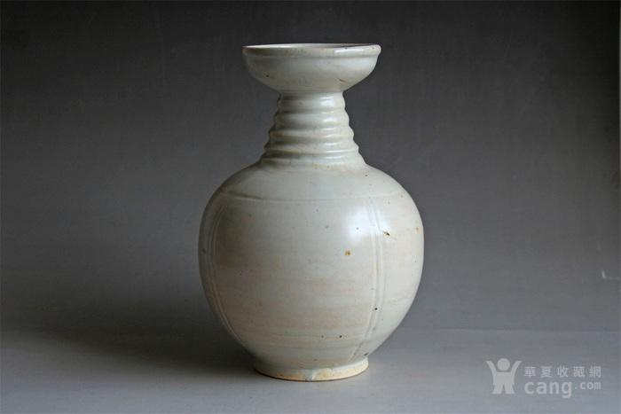 宋将乐窑青白釉盘口瓶图2