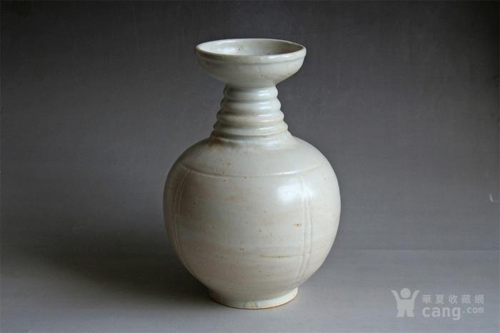 宋将乐窑青白釉盘口瓶图1